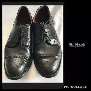 Allen Edmonds Sanford Black Oxfords Shoes 9D